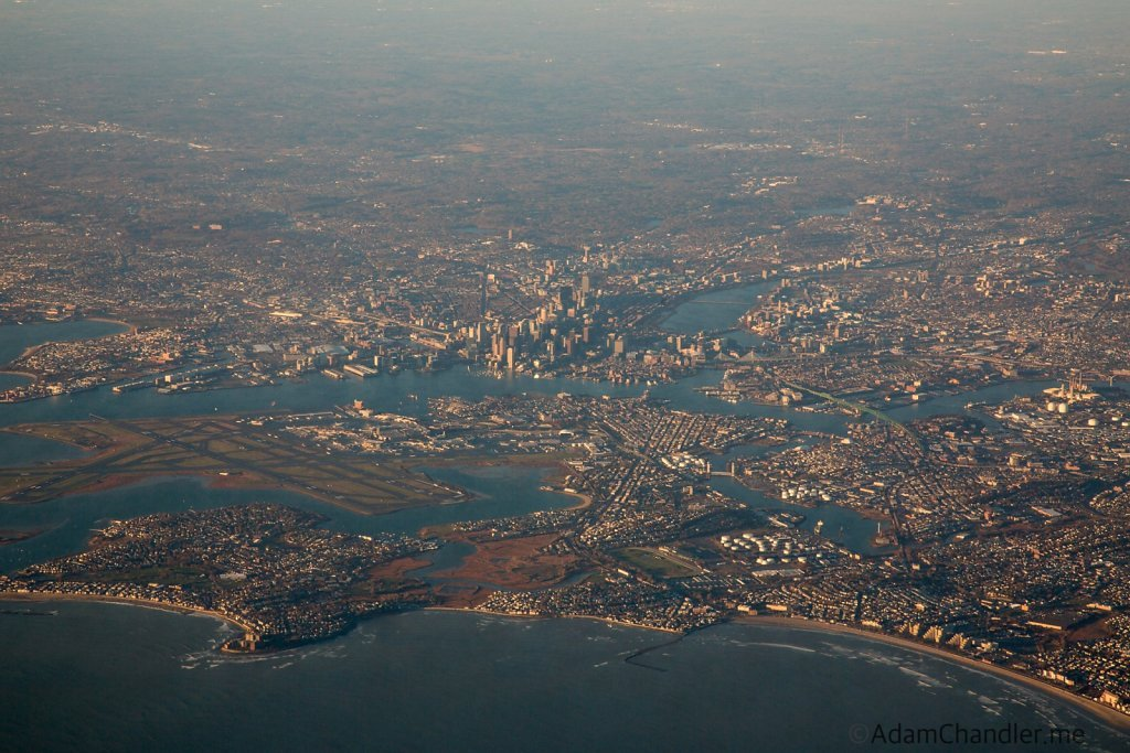 Aerial Image of Boston, November, 2015