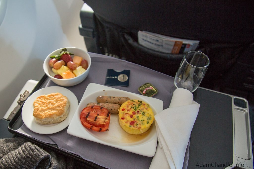 United First Class Domestic Breakfast Options, November 2015